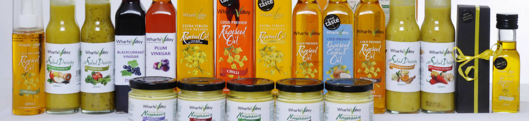 Group of Wharfe Valley Rapeseed Oil Products 2018