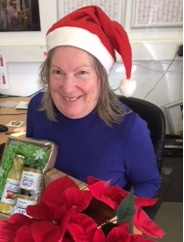 Sallyann Kilby with gift pack