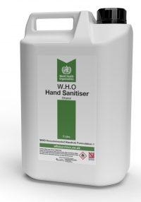 W.H.O Ethanol Blend Hand Sanitiser 5L