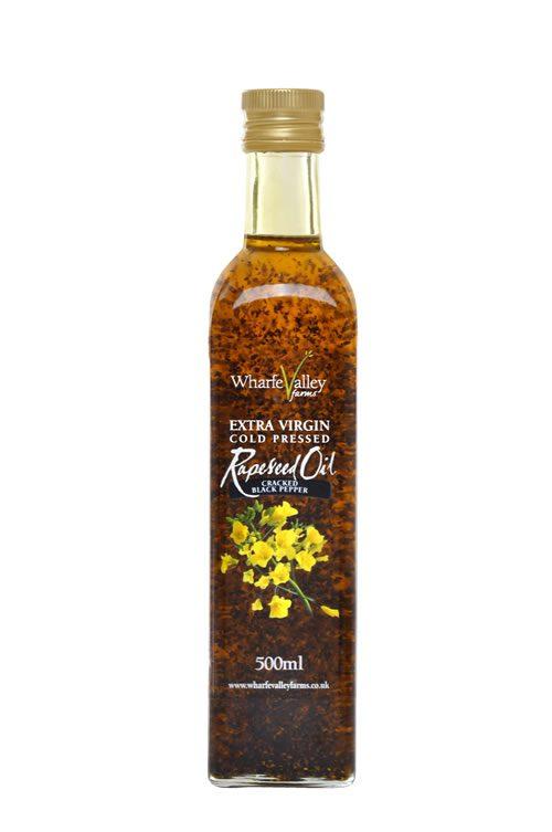 Wharfe Valley Cracked Black Pepper Rapeseed Oil