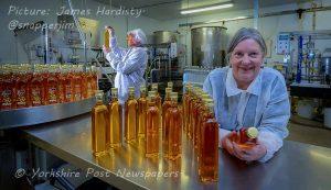 Bottling rapeseed oil at Wharfe Valley Farm