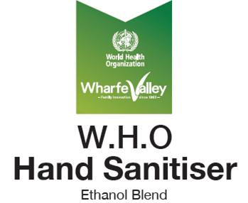 World Health Organisation formula Ethanol Blend Hand Sanitiser from Wharfe Valley